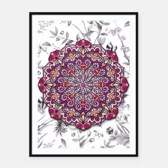 Thumbnail image of FLORAL MANDALA Framed poster, Live Heroes