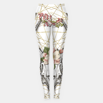 Thumbnail image of BOHO SKULL Leggings, Live Heroes