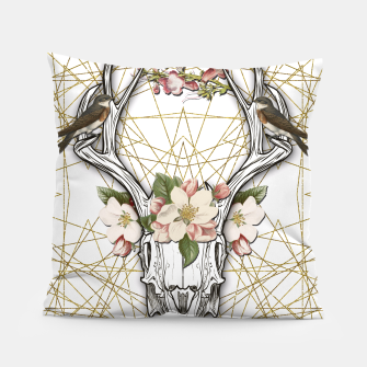 Thumbnail image of BOHO SKULL Pillow, Live Heroes