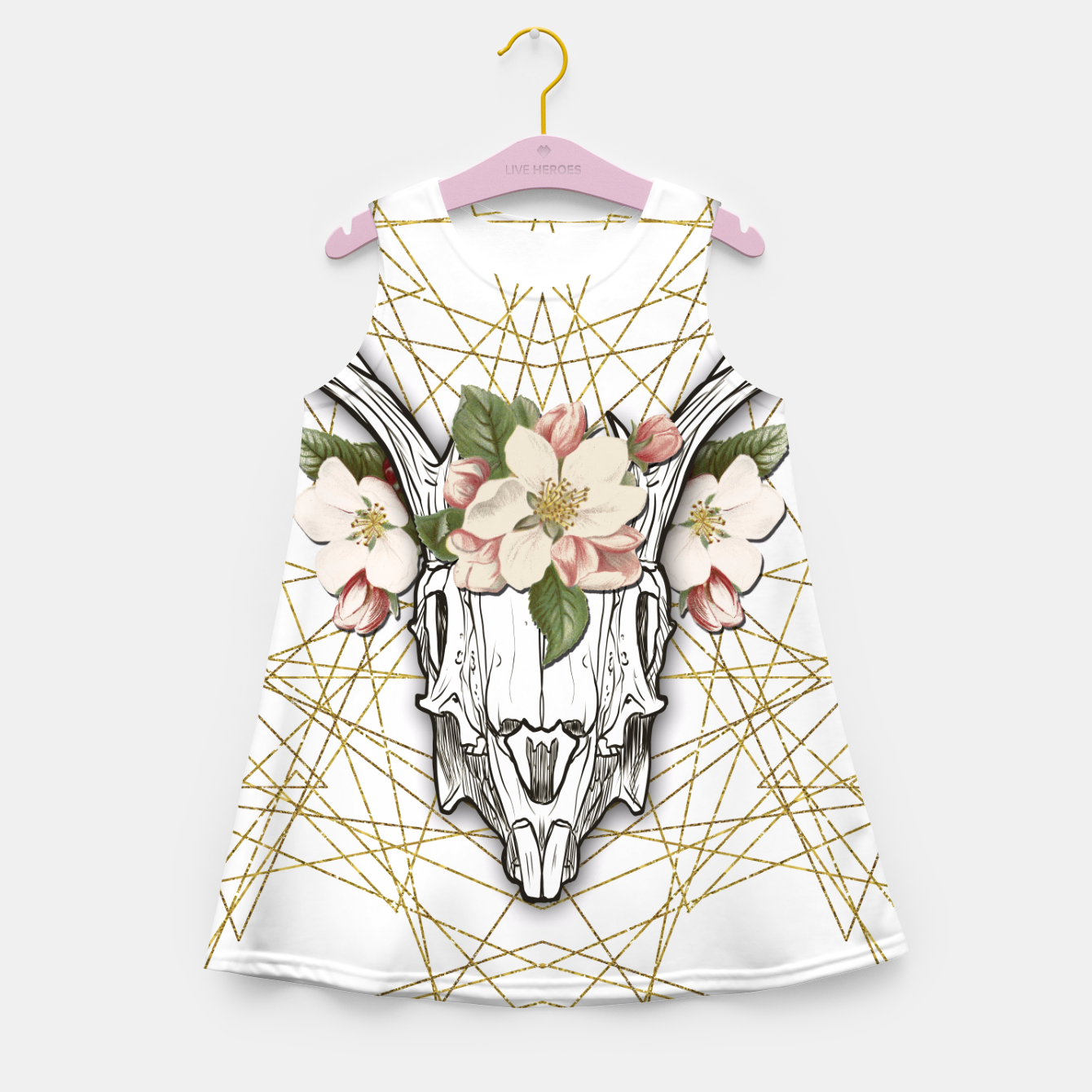 Image of BOHO SKULL Girl's Summer Dress - Live Heroes