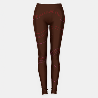 Thumbnail image of HANDDRAWN SUMMER LEGGINGS : CHOCOLATE BROWN, Live Heroes