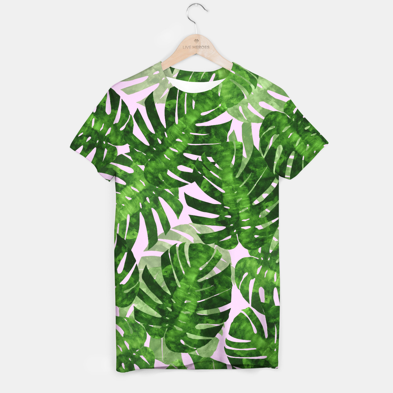 Watercolor Palm Leaves T Shirt Live Heroes Summer tropical turtle leaf palm tree leaves border. live heroes