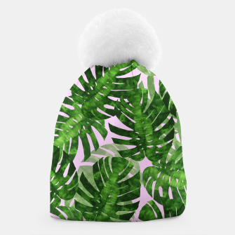 Thumbnail image of Watercolor palm leaves Beanie, Live Heroes