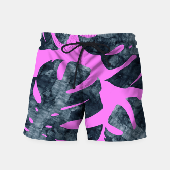 Thumbnail image of Watercolor palm leaves Swim Shorts, Live Heroes