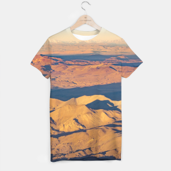 Thumbnail image of Andes Mountains Desert Aerial Landscape Scene T-shirt, Live Heroes