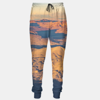 Thumbnail image of Andes Mountains Desert Aerial Landscape Scene Sweatpants, Live Heroes