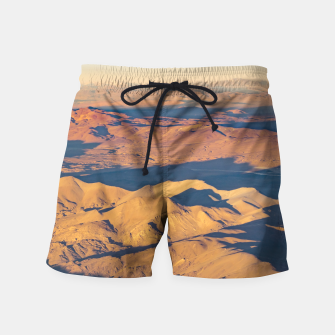Thumbnail image of Andes Mountains Desert Aerial Landscape Scene Swim Shorts, Live Heroes