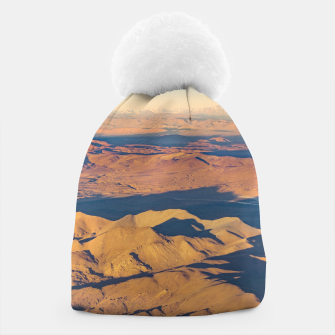Thumbnail image of Andes Mountains Desert Aerial Landscape Scene Beanie, Live Heroes