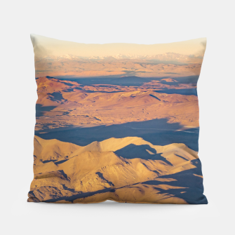 Thumbnail image of Andes Mountains Desert Aerial Landscape Scene Pillow, Live Heroes