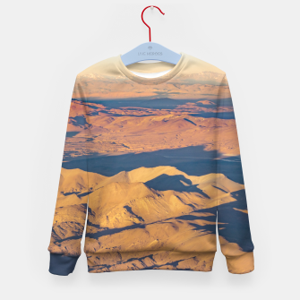 Thumbnail image of Andes Mountains Desert Aerial Landscape Scene Kid's Sweater, Live Heroes