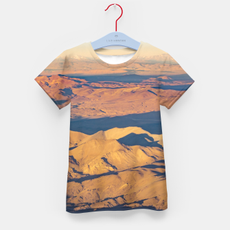 Thumbnail image of Andes Mountains Desert Aerial Landscape Scene Kid's T-shirt, Live Heroes