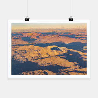 Thumbnail image of Andes Mountains Desert Aerial Landscape Scene Poster, Live Heroes
