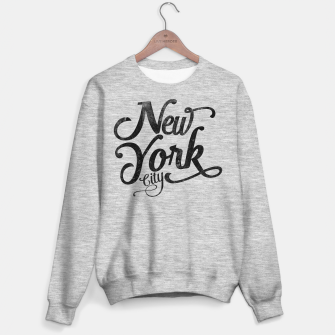 Thumbnail image of New York City typography Sweater regular, Live Heroes