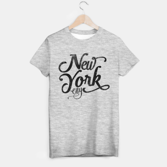 Thumbnail image of New York City typography T-shirt regular, Live Heroes