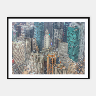 Imagen en miniatura de New York City Manhattan Framed poster, Live Heroes