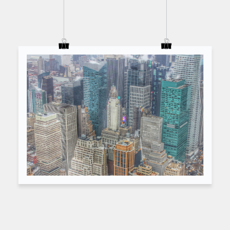 Miniature de image de New York City Manhattan Poster, Live Heroes