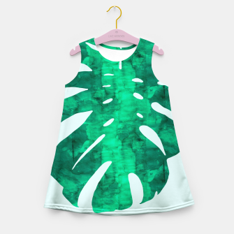 Thumbnail image of Tropical watercolor Girl's Summer Dress, Live Heroes