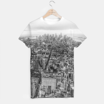 Thumbnail image of New York Manhattan skyline T-shirt, Live Heroes