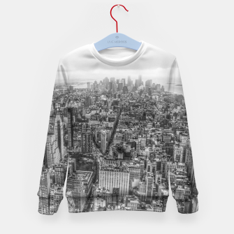 Thumbnail image of New York Manhattan skyline Kid's Sweater, Live Heroes