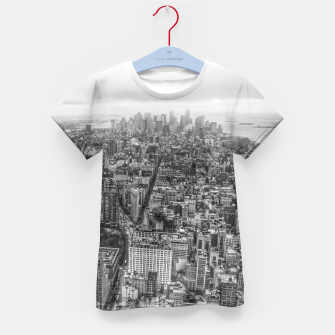 Thumbnail image of New York Manhattan skyline Kid's T-shirt, Live Heroes