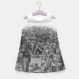 Thumbnail image of New York Manhattan skyline Girl's Summer Dress, Live Heroes