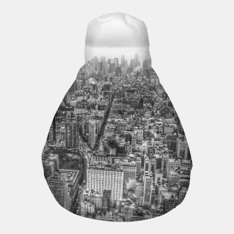 Thumbnail image of New York Manhattan skyline Pouf, Live Heroes