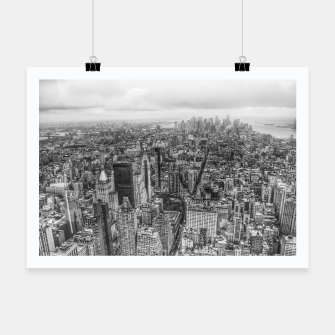 Thumbnail image of New York Manhattan skyline Poster, Live Heroes