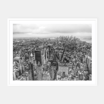 Thumbnail image of New York Manhattan skyline Framed poster, Live Heroes
