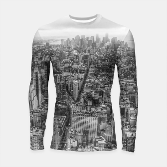 Thumbnail image of New York Manhattan skyline Longsleeve Rashguard , Live Heroes