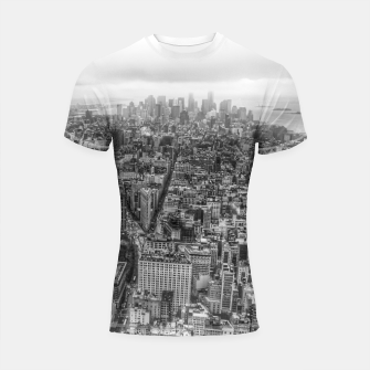 Thumbnail image of New York Manhattan skyline Shortsleeve Rashguard, Live Heroes