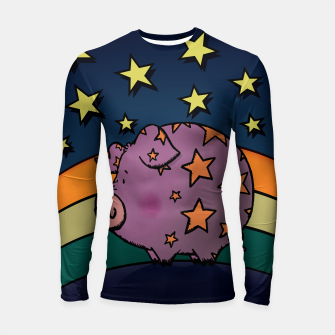 Thumbnail image of Peter the magic pig Longsleeve Rashguard , Live Heroes