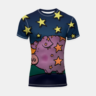 Thumbnail image of Peter the magic pig Shortsleeve Rashguard, Live Heroes