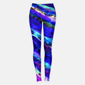 Thumbnail image of Beneath Blue Waves Leggings, Live Heroes