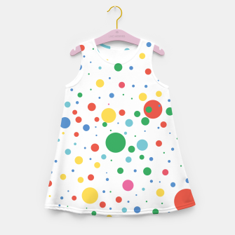 Thumbnail image of Dots Pattern 4 Mädchen-Sommerkleid, Live Heroes