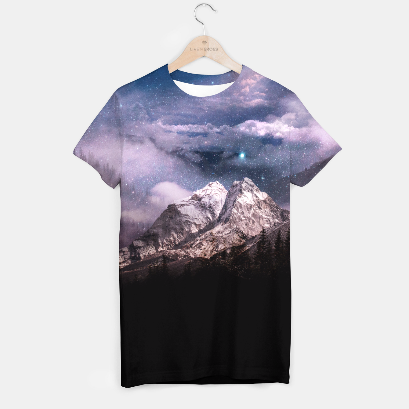 Image of Space Time T-shirt - Live Heroes
