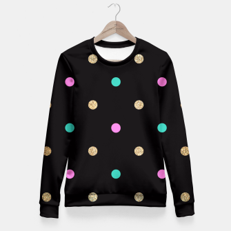 Thumbnail image of Dots Pattern 5 Taillierte Sweatshirt, Live Heroes