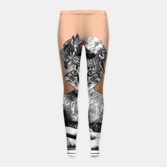 Thumbnail image of CAT WOMAN Girl's Leggings, Live Heroes