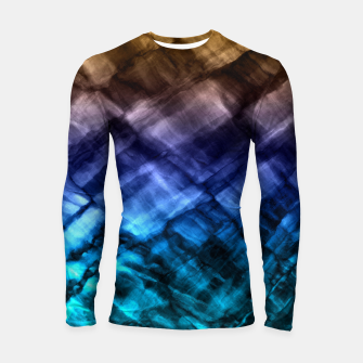 Thumbnail image of Rock Pool in Blue and Gold Longsleeve Rashguard , Live Heroes