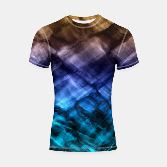 Thumbnail image of Rock Pool in Blue and Gold Shortsleeve Rashguard, Live Heroes
