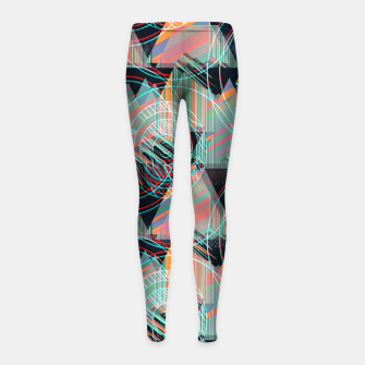Thumbnail image of Vivid triangles Girl's Leggings, Live Heroes