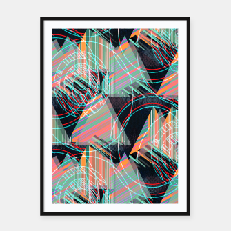 Thumbnail image of Vivid triangles Framed poster, Live Heroes