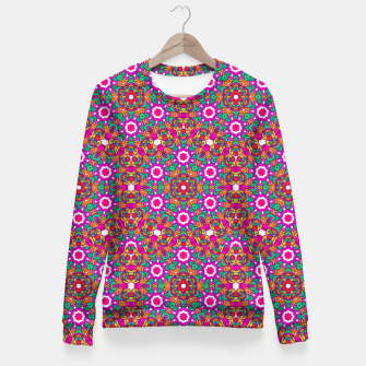Thumbnail image of FLOWER OF LIFE KALEIDOSCOPE Fitted Waist Sweater, Live Heroes