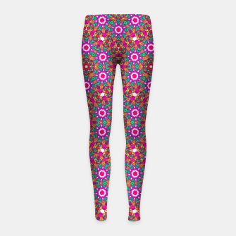 Thumbnail image of FLOWER OF LIFE KALEIDOSCOPE Girl's Leggings, Live Heroes
