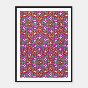 Thumbnail image of FLOWER OF LIFE KALEIDOSCOPE Framed poster, Live Heroes