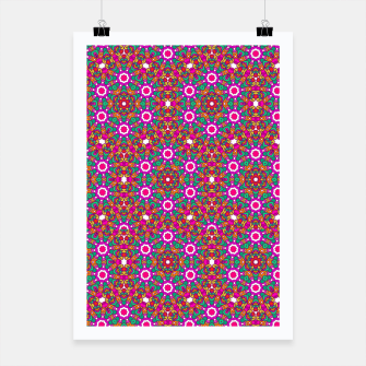 Thumbnail image of FLOWER OF LIFE KALEIDOSCOPE Poster, Live Heroes