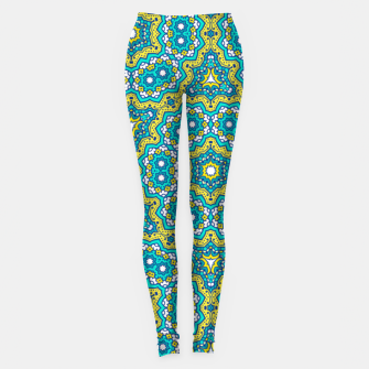Thumbnail image of GREEN AND BLUE MANDALA PATTERN Leggings, Live Heroes