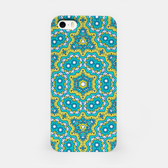 Thumbnail image of GREEN AND BLUE MANDALA PATTERN iPhone Case, Live Heroes