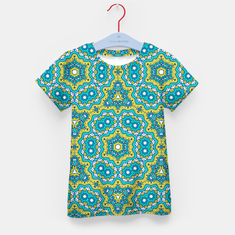Thumbnail image of GREEN AND BLUE MANDALA PATTERN Kid's T-shirt, Live Heroes
