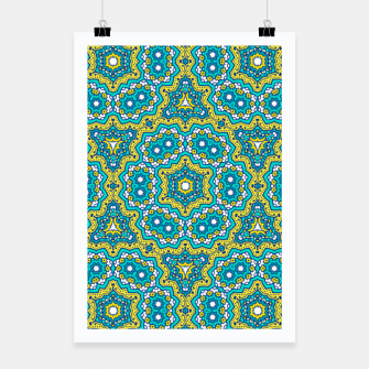 Thumbnail image of GREEN AND BLUE MANDALA PATTERN Poster, Live Heroes