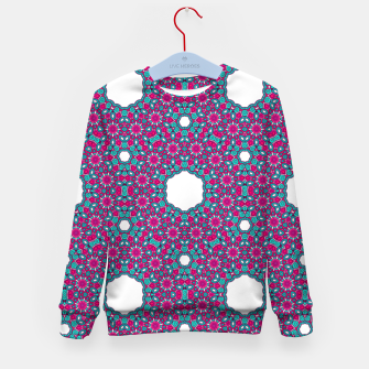 Thumbnail image of PINK AND PURPLE KALEIDOSCOPE Kid's Sweater, Live Heroes